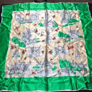 Vintage Paris landmark scarf